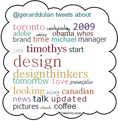 Tweet cloud November 2009